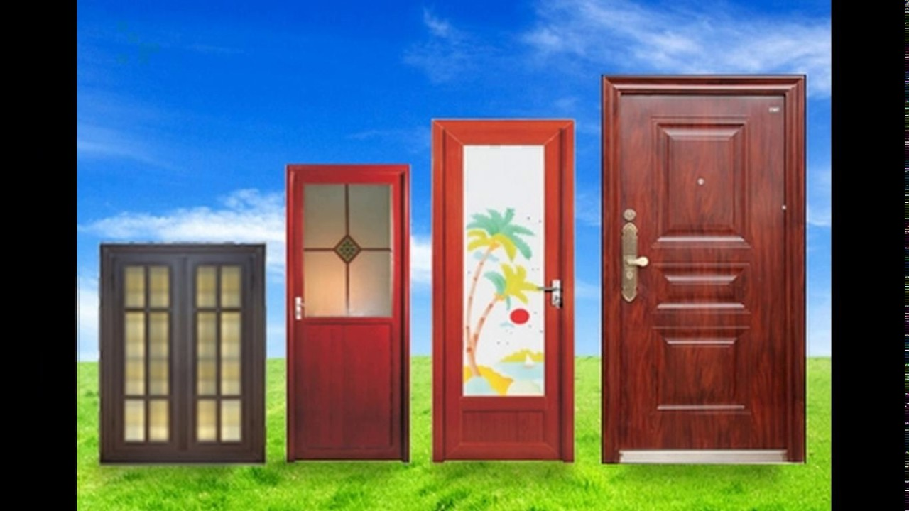 Aluminium doors design for bathroom - YouTube