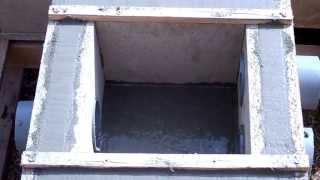 coulage du beton d un regard d eaux pluviales