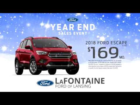 Lafontaine Ford Lansing >> Lafontaine Ford Of Lansing Year End Sales Event 2018 Escape