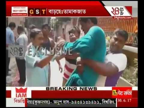 Two leaders of TMC openly fights in Kandi at Murshidabad