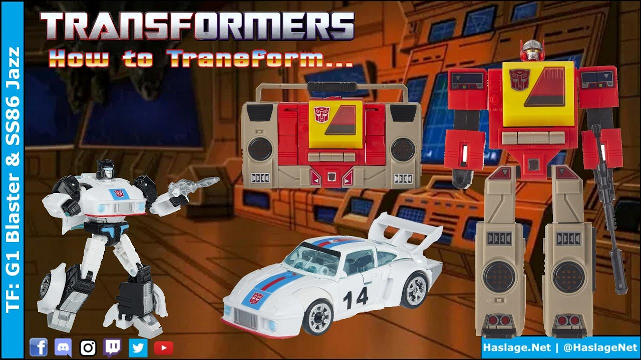 Transformers: G1 Blaster & Studio Series 86 Jazz by HNE Games
