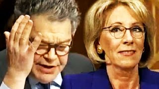 Al Franken Uncovers Just How Ridiculously Unqualified Betsy DeVos Really Is With One Simple Question