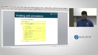Cython: Speed up Python and NumPy, Pythonize C, C++, and Fortran, SciPy2013 Tutorial, Part 2 of 4(Presenter: Kurt Smith Description Cython is a flexible and multi-faceted tool that brings down the barrier between Python and other languages. With cython, you ..., 2013-06-27T16:51:02.000Z)