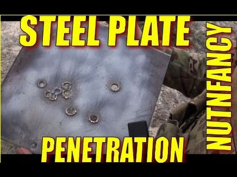 Steel plate penetration 9mm