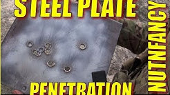 Steel Plate Penetration Tests: 7.62mm, 5.56mm