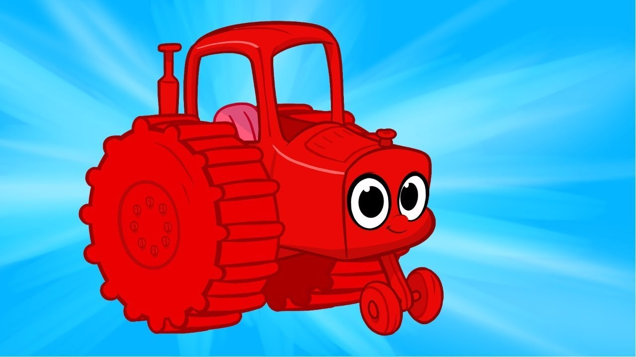 My Red Tractor   My Magic Pet Morphle Vehicle Compilation With Trucks Fire Trucks and More