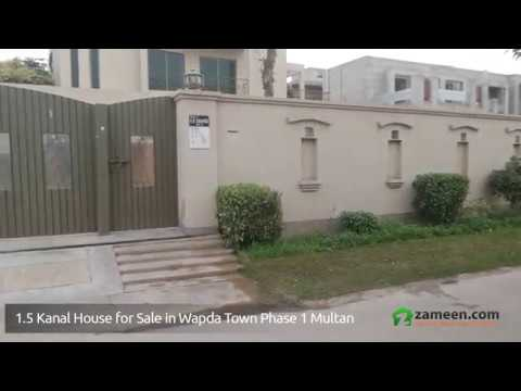 1.5 KANAL HOUSE FOR SALE IN WAPDA TOWN PHASE 1 MULTAN