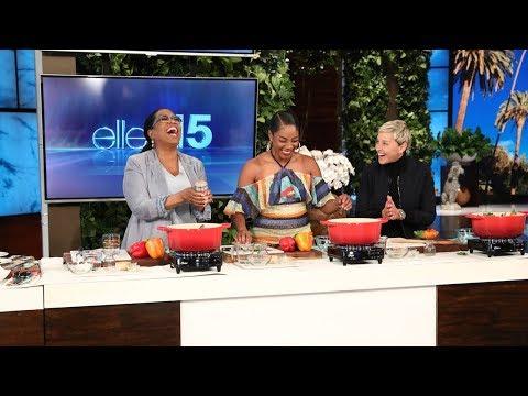 Tiffany Haddish Teaches Oprah How to Make Joyful Greens