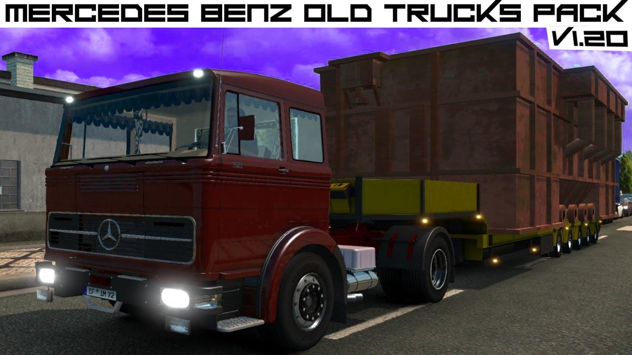 Mercedes Benz Old Trucks Pack v1.20 ETS 2 HD - YouTube