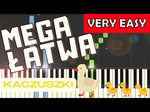 🎹 Kaczuszki (Chicken dance) - Piano Tutorial (MEGA ŁATWA wersja) (VERY EASY) 🎹