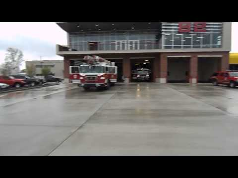 Wayne Township Fire Department Engine 82 And Ambulance 82 Going To A Call