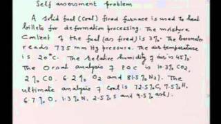 Mod-01 Lec-11 Materials balance in combustion