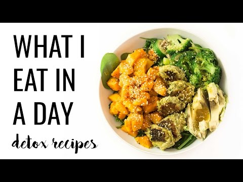 16. WHAT I EAT IN A DAY | easy detox recipes