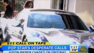 Justin Bieber 911 call on tape released during Paparazzi Chase