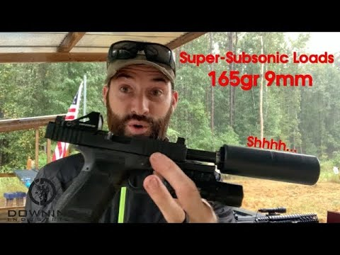 Super-Subsonic 165gr 9mm Loads... Shhhh