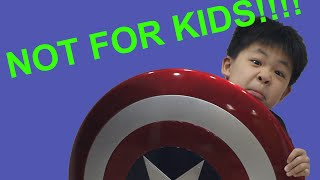 Not For Kids!!  - Marvel Legends Gear Captain America Shield Review