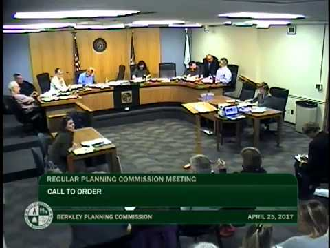 Berkley Planning Commission Meeting - April 25, 2017