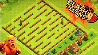 """THE MINI MAZE BASE!"" - Clash of Clans - LVL 1 TOWN HALL 8 MAZE BASE! Low Level Trolling"