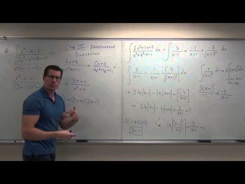 Calculus 2 Lecture 7.4:  Integration By Partial Fractions