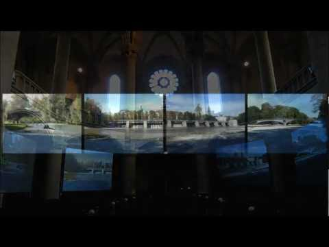 """Transformation: mARping Lehel"" - video installation, St. Lukas Church, Munich"
