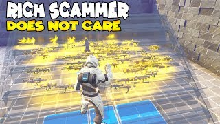 RISKED MY WATER Jack o Launcher 😱 (Scammer Gets Scammed) Fortnite Save The World