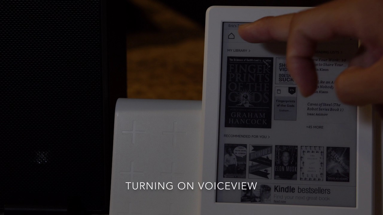 How To Turn VoiceView On and Off on Kindle (8th gen)
