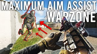 Playing Warzone with MAXIMUM Aim Assist...