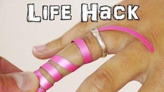 هذا ما عليك فعله لتخرجي الخاتم الضيق من أصبعك.. حيلة ذكية!