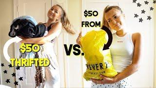 $50 Thrift Haul VS. $50 from Forever 21 (I