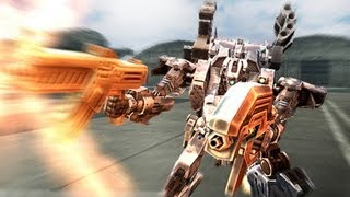 Armored Core Last Raven PSP gameplay