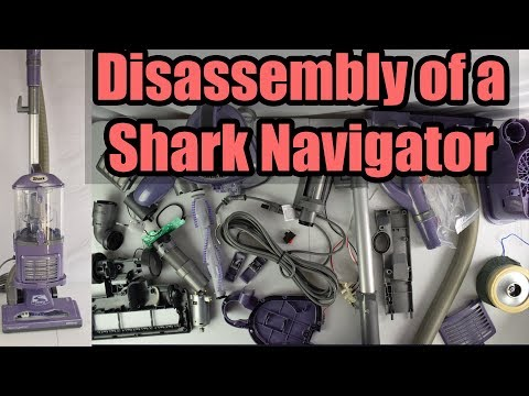 Disassembly of a Shark Navigator Lift Away Vacuum Cleaner - Whats Inside?