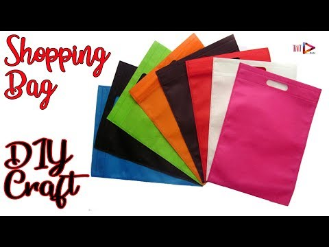 How To Make a Wall Hanging Organizer With Old Shopping Bags | DIY Hanging Pocket Organizer