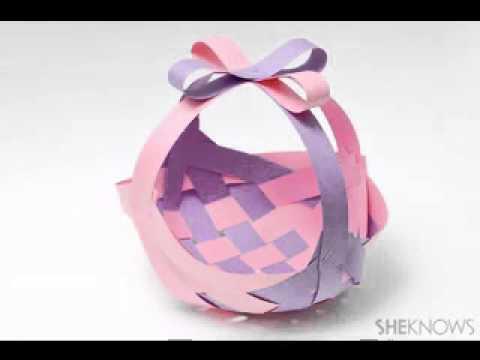 Diy easter basket craft ideas youtube negle Choice Image
