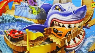 Super Exciting Hot Wheels City Sharkport Showdown Color Shifters Cars Change Color