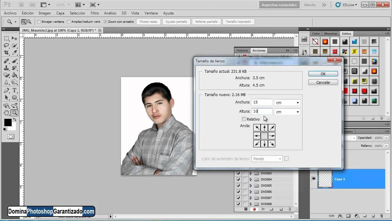 Crear fotografias en tamaño pasaporte rapido - Tutorial de photoshop ...