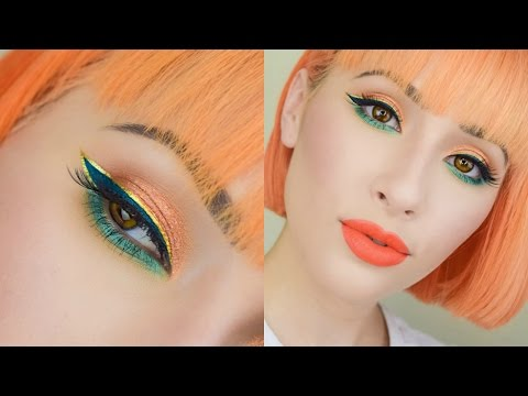 Golden Tangerine Fall Makeup Tutorial