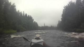 Карелія, річка Кереть, поріг Краснобыстрый, липень 2015 року