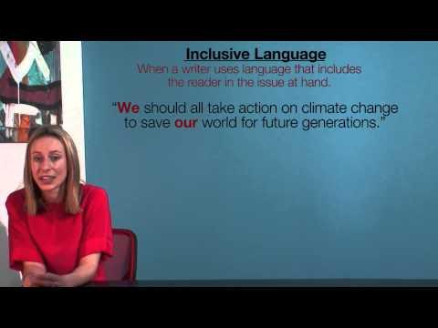 VCE English - Inclusive Language (Language Analysis)