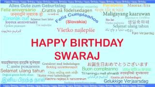 Swaraj   Languages Idiomas - Happy Birthday