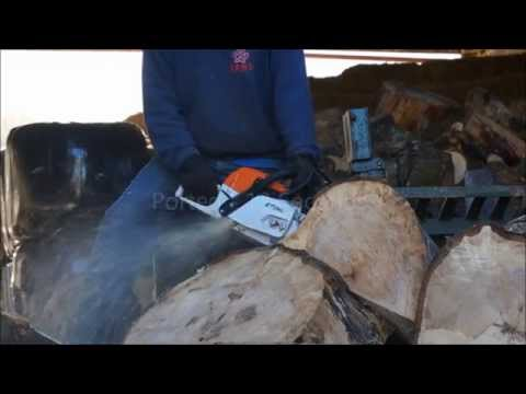 stihl ms 261 c cutting huge log doovi. Black Bedroom Furniture Sets. Home Design Ideas