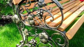 20 Красивый дизайн кованой скамейки лавочки ковка с виноградом, виноградная лоза из металла в Д