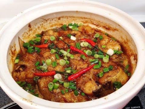 Caramelized Catfish In Claypot - Ca Bong Lau Kho To