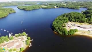 Le lac de Saint-Pardoux vu du ciel