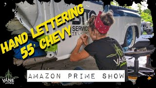 Hand Lettering for Amazon TV Show - VW Beetle Vlog