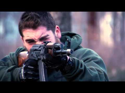 Blank firing AK47 in slow motion