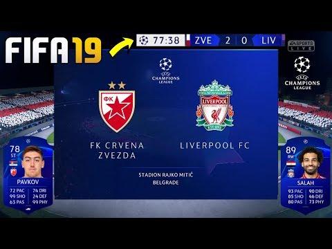 CRVENA ZVEZDA VS LIVERPUL (LIGA SAMPIONA) - FIFA 19 KARIJERA SA CRVENOM ZVEZDOM MTS LIGA
