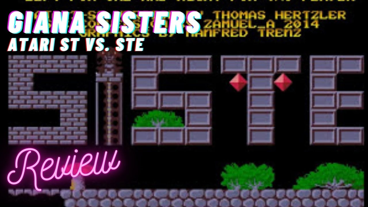 15 minutes of game - Giana Sisters Atari STe vs  Atari ST Version