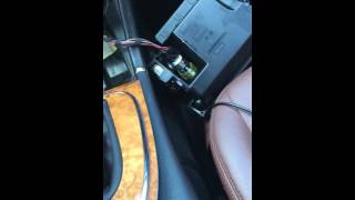 How to activate the aux cord in the glove box instead of the iPod cord in mercedes e320 e350 2003-2