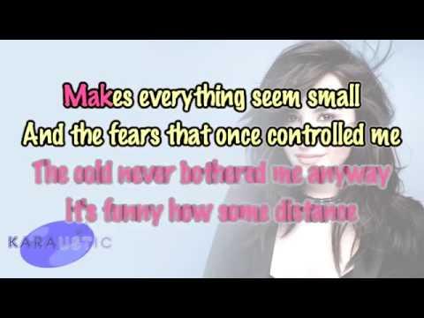 Demi Lovato Let It Go Piano Karaoke Instrumental
