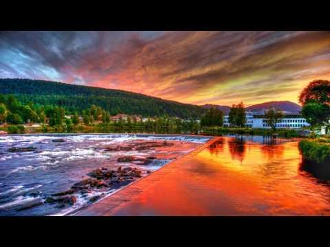 Sunset in Kongsberg, Norway